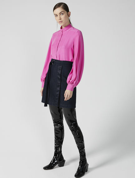 Wrapover Denim Mini Skirt Sportmax