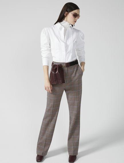 Ribbed Cotton Poplin Shirt