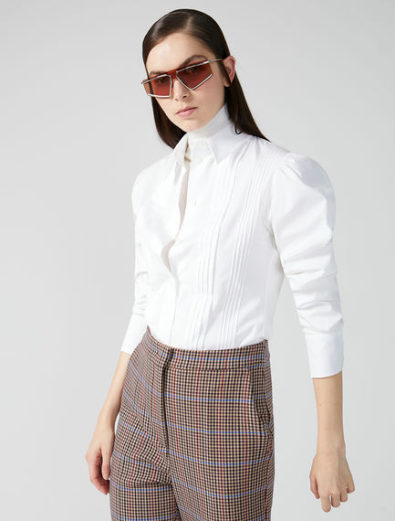 Ribbed Cotton Poplin Shirt Sportmax