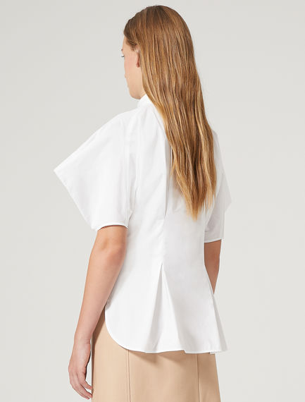 Structured Sleeve Poplin Shirt