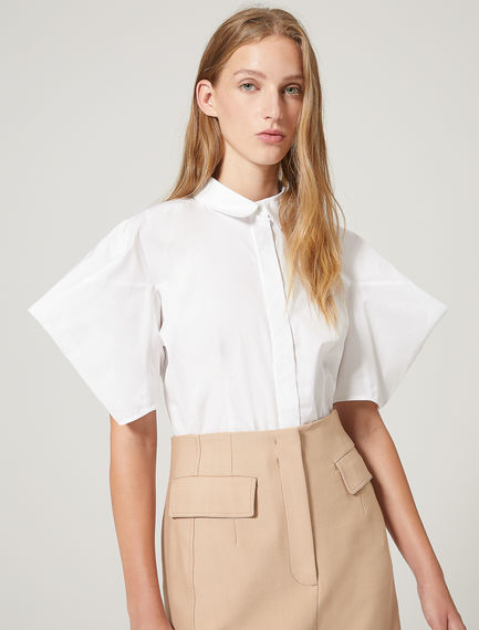 Structured Sleeve Poplin Shirt Sportmax