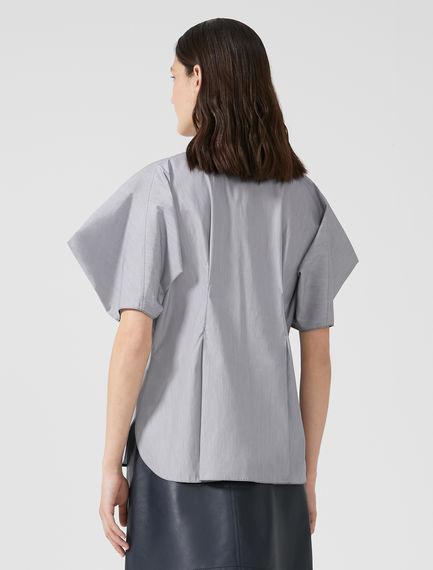 Structured Sleeve Poplin Shirt