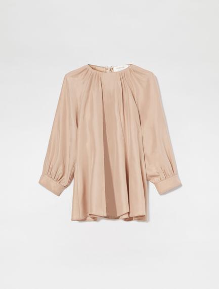 Habotai Silk Raglan Sleeve Blouse