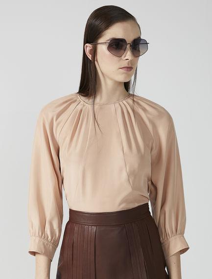 Habotai Silk Raglan Sleeve Blouse Sportmax