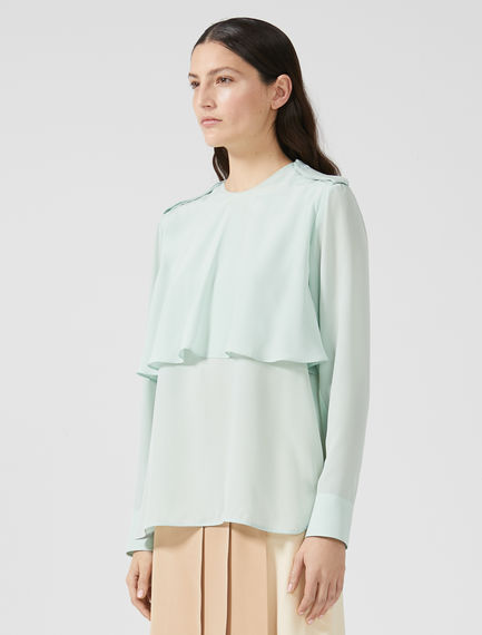 Layered Silk Crêpe de Chine Shirt