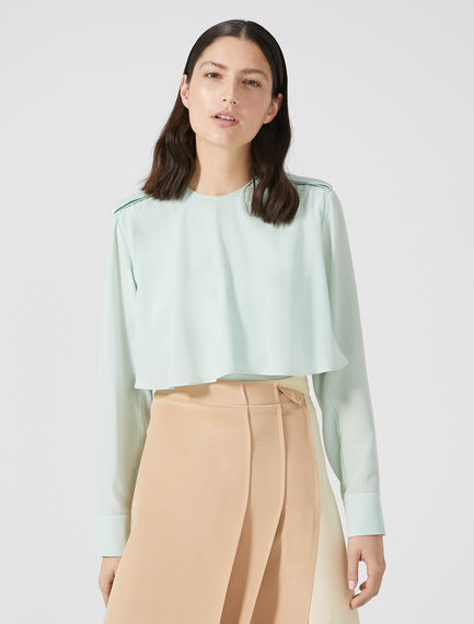 Layered Silk Crêpe de Chine Shirt Sportmax