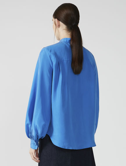 Habotai Silk Collarless Blouse Sportmax