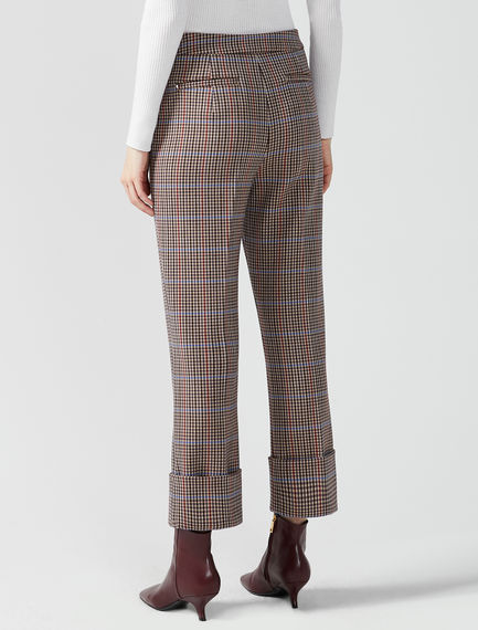 Checked Turn-Up Trousers Sportmax