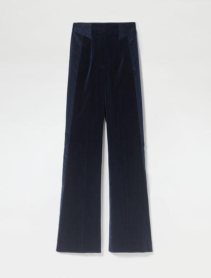 Pantalone in velluto a contrasto