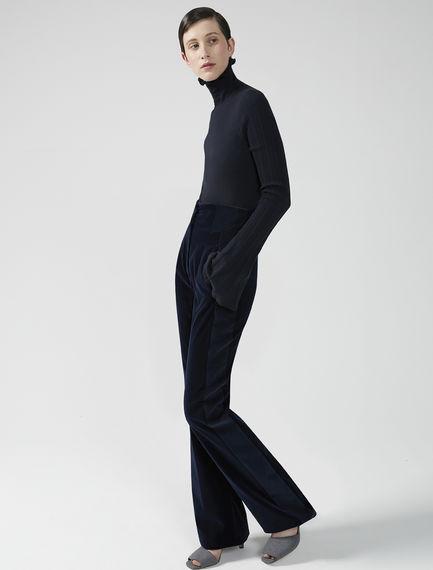 Pantalone in velluto a contrasto Sportmax