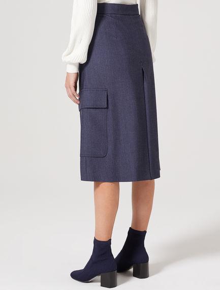 High-Waist Gabardine Culottes