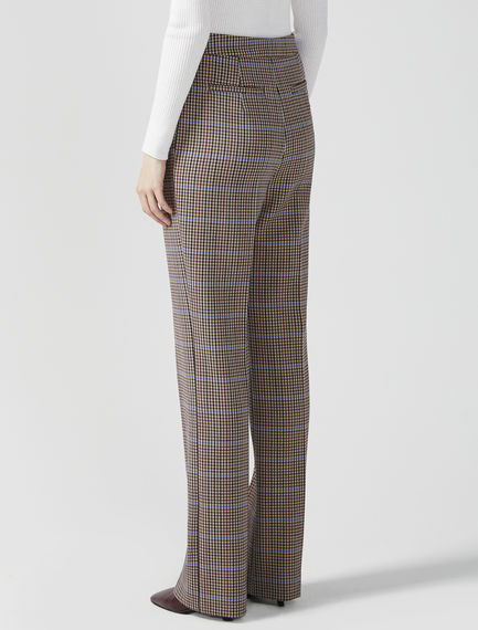 Checked Tailored Trousers