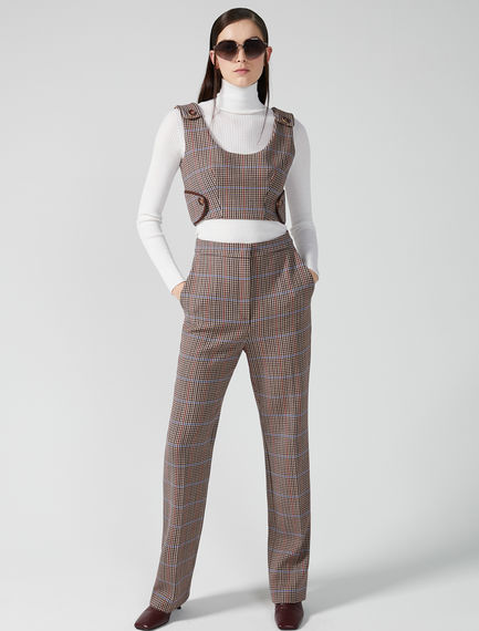 Checked Tailored Trousers Sportmax
