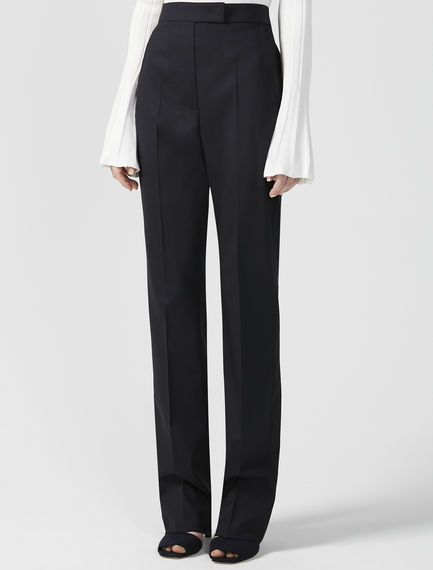 Wool & Satin Trousers
