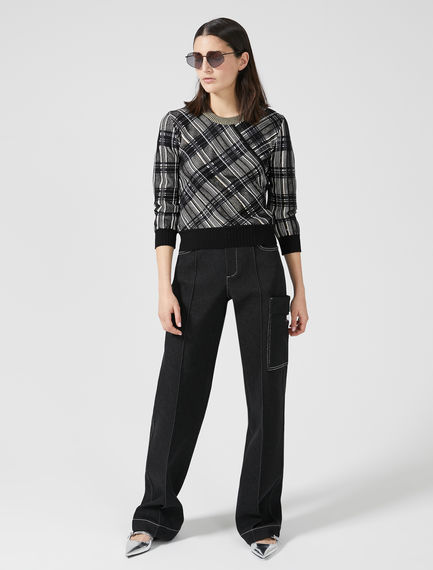 High-Waist Cotton Trousers Sportmax