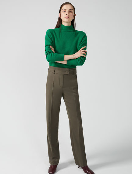 High-Waist Gabardine Trousers Sportmax