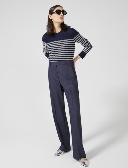 Sartorial Wool Viscose Trousers Sportmax
