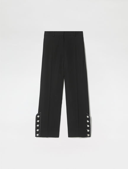 Ankle Button Cropped Trousers
