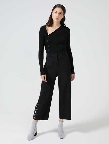Ankle Button Cropped Trousers Sportmax
