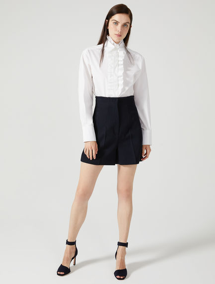 Wool Twill Tailored Shorts Sportmax