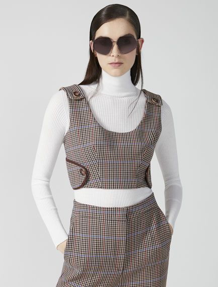 Tailored Checked Wool Bodice Sportmax