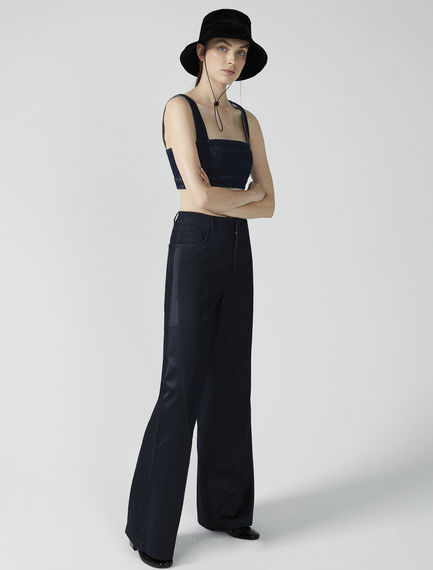 Inlaid Wide Leg Jeans Sportmax