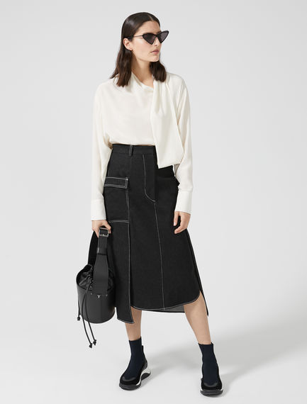 Silk Crepe Sashed Shirt Sportmax