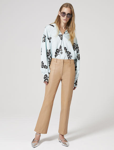 Oversized Geometric Jacquard Shirt