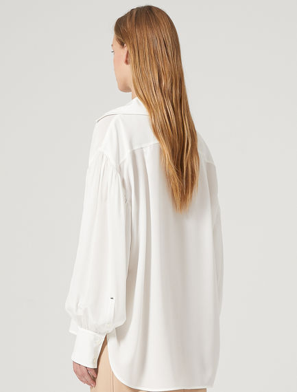 Oversized Geometric Jacquard Shirt