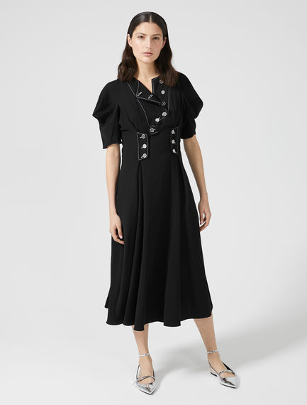 Sculpted Sleeve Button Dress Sportmax