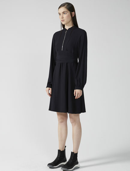 Zipped Satin Parachute Dress Sportmax