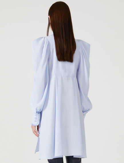 Silk Habotai Bib Dress