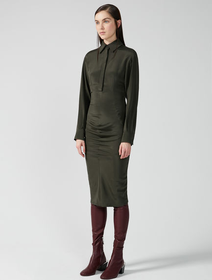 Contoured Silk Shirtdress