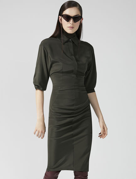 Contoured Silk Shirtdress Sportmax