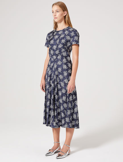 Silk Jacquard Bias-cut Dress Sportmax