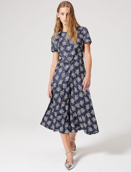 Silk Jacquard Bias-cut Dress