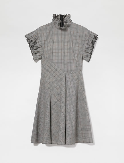 Future Check Wool Dress