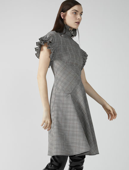 Future Check Wool Dress Sportmax