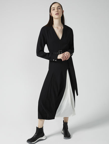 Two-Tone Satin Dress Sportmax