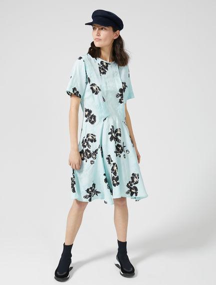 Geometric Print Jacquard Skater Dress