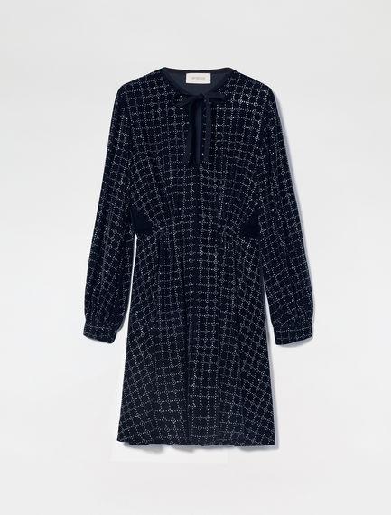 Embellished Velvet Tunic Dress