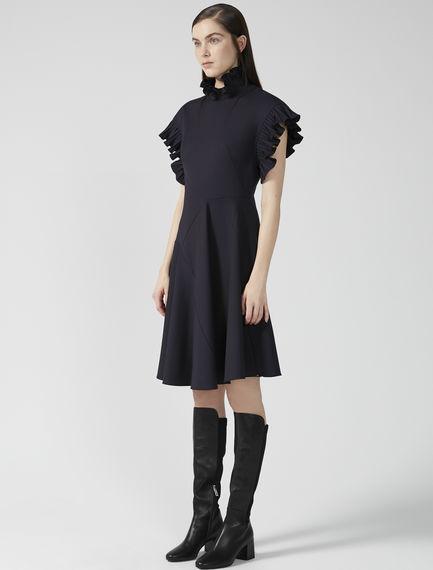 Kimono Ruffle Gabardine Dress