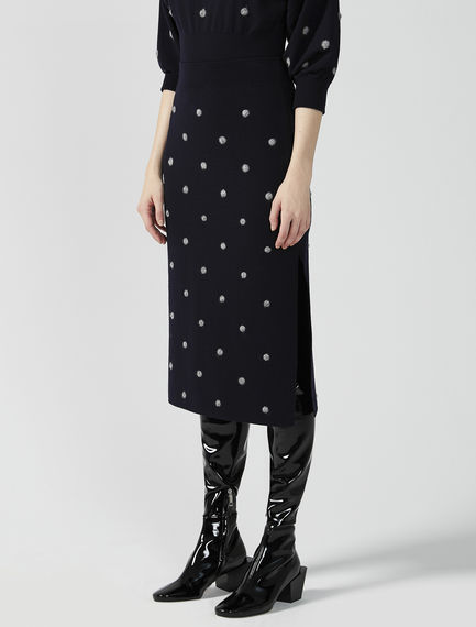 Dot Knitted Tube Skirt Sportmax