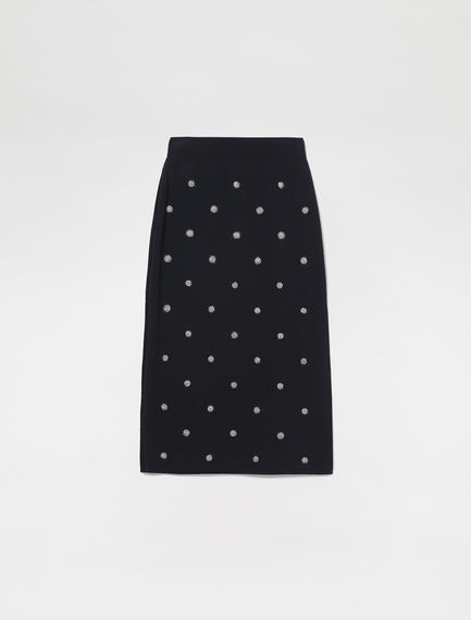 Dot Knitted Tube Skirt