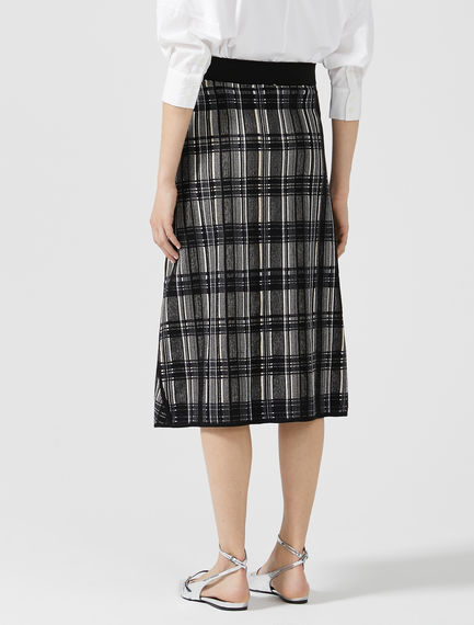 Check Jacquard Knit Skirt