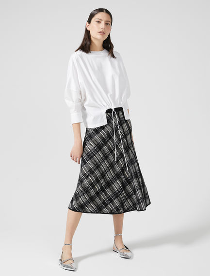 Check Jacquard Knit Skirt Sportmax