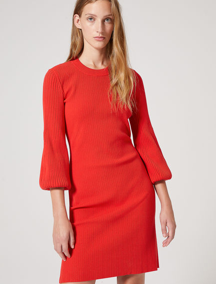 Sculpted Sleeve Viscose Dress Sportmax