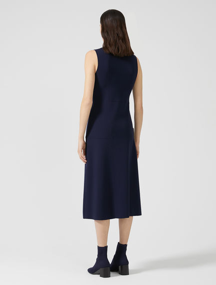Patch Pocket Viscose Knit Dress