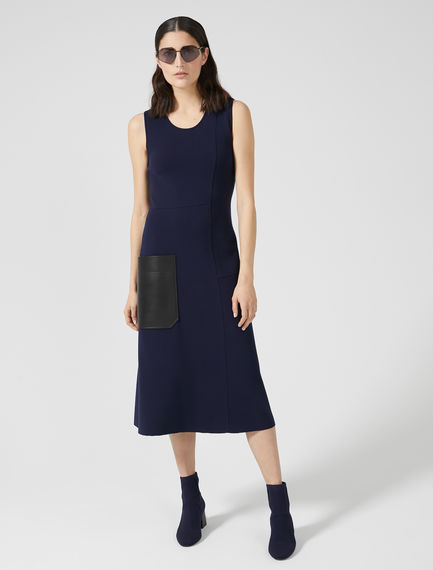 Patch Pocket Viscose Knit Dress Sportmax