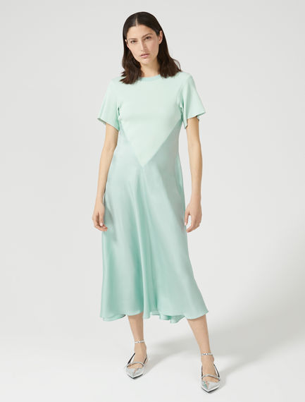 Silk Tulle & Knit Dress Sportmax